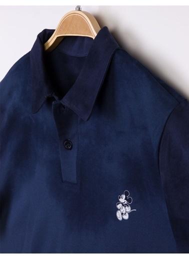 Mickey Mouse  Yetişkin Yıkamalı Batik Tişört 16044 Beyaz